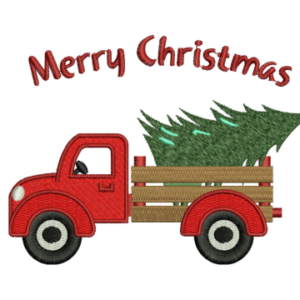 Christmas Truck Embroidery design