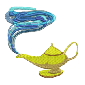 Aladdin lamp Embroidery Designs