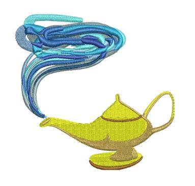 Aladdin lamp Embroidery Designs