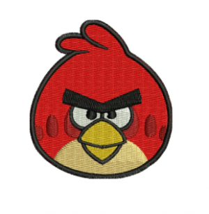 Red Angry bird Embroidery Designs