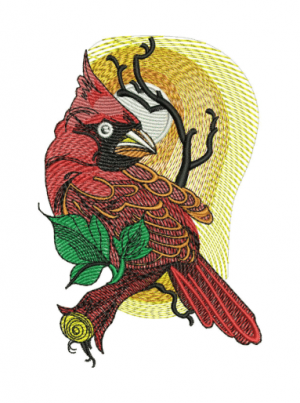 Northern cardinal Embroidery Designs