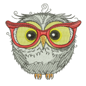 Owl in Glasses Embroidery Designs