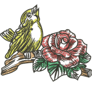 Singing Sparrow Embroidery Designs