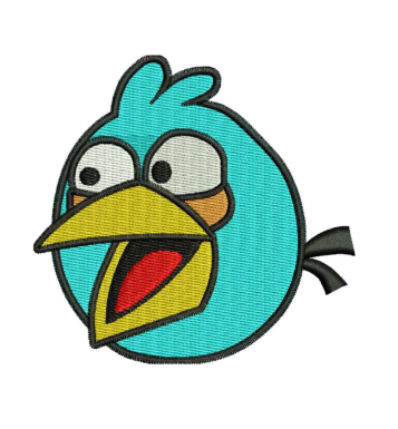 Blue angrybird Embroidery Designs