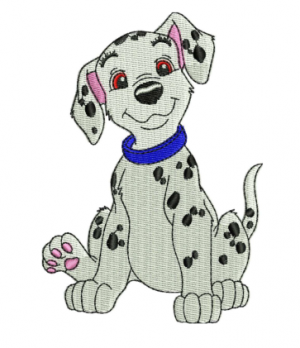 Happy Dog Embroidery Design