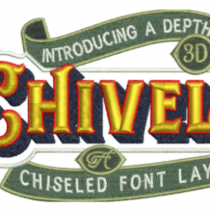 26 Cool 3D font Embroidery Design