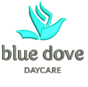 Blue 3D Dove Embroidery Design