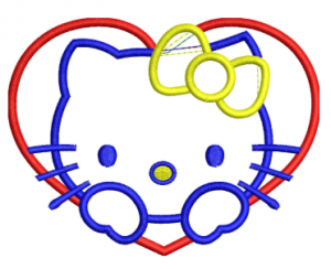 Hello kitty Applique Embroidery Design