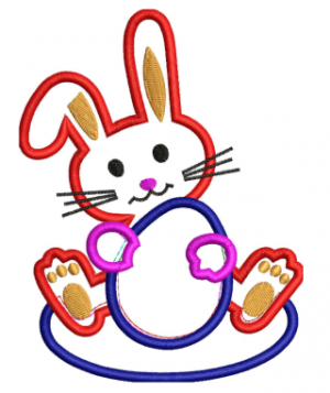 Instant Easter Applique Embroidery Design