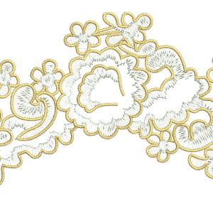 Lace Applique Technique Embroidery Design