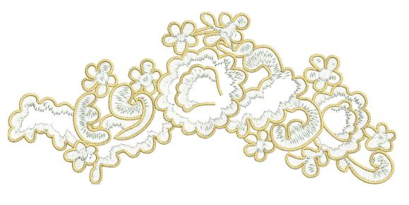 Lace Applique Technique Embroidery Design
