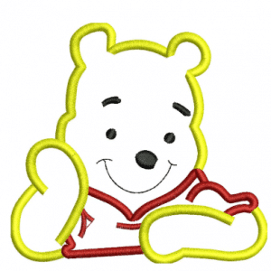 Pooh Embroidery Design