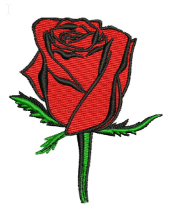 Red Rose Embroidery