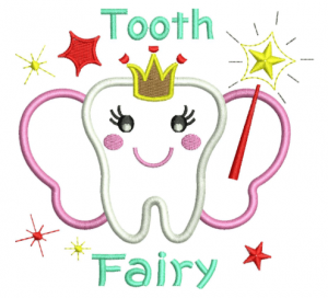 Tooth Fairy Applique Embroidery Design