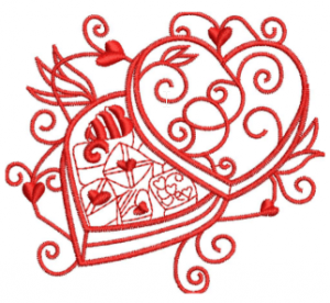 Valentines Embroidery Design