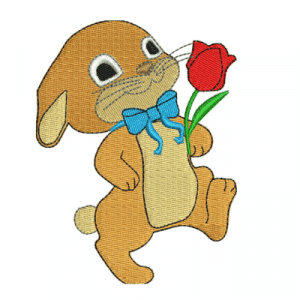 Bunny Easter Embroidery Design